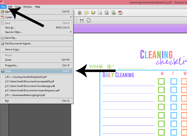 How to Re-Size a PDF Printable for Filofax, Erin Condren, etc…