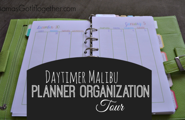 My Personal Planner Organization Tour