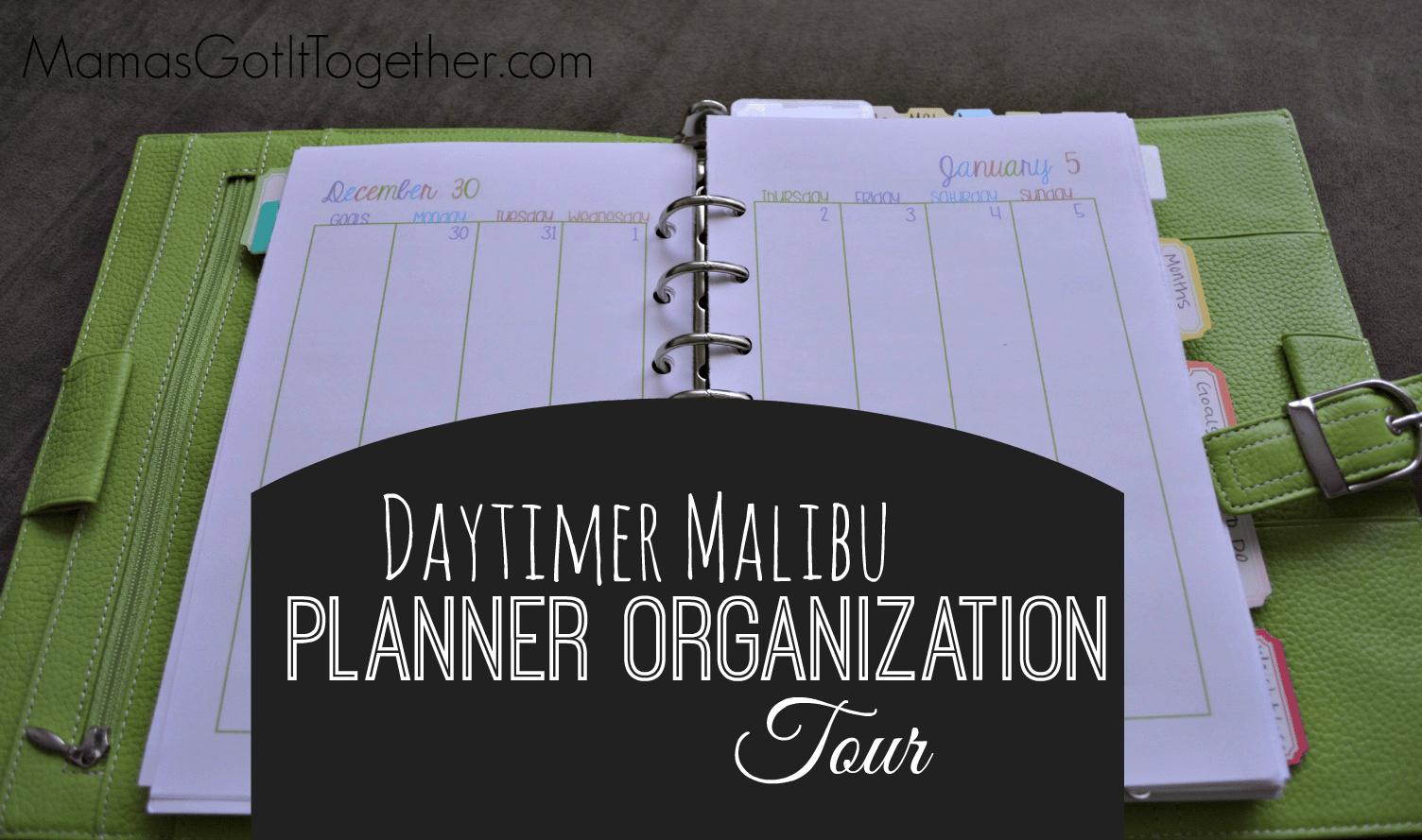 My Personal Planner Organization Tour Planning Inspired – Daytimer Planner