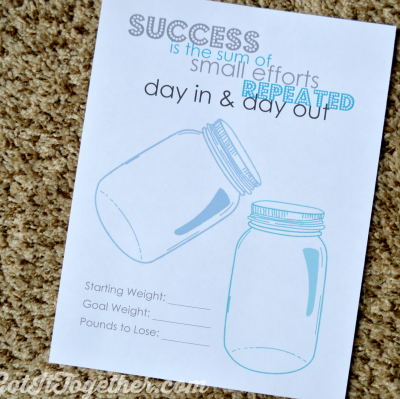 Free Mason Jar Weight Loss Tracker Printable
