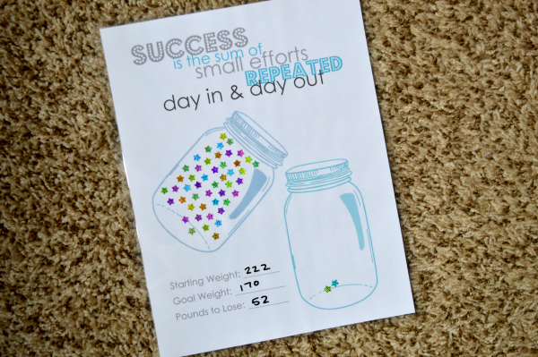 Diy Weight Loss Countdown Jar Planning Inspired