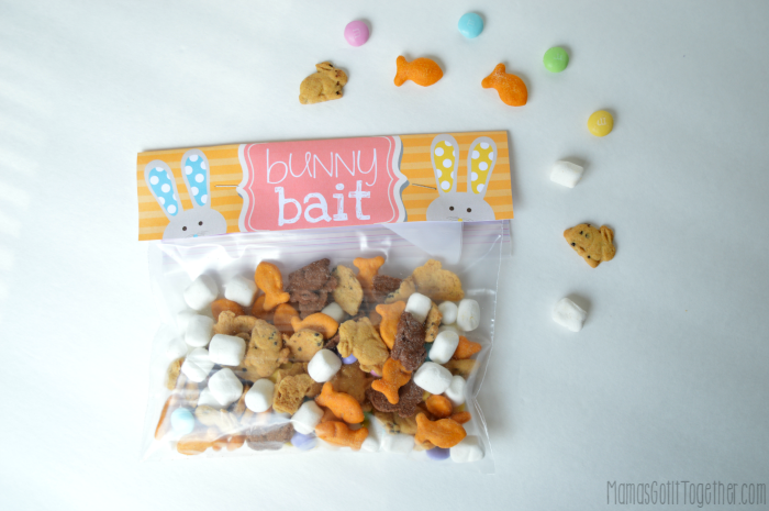 image about Bunny Bait Printable known as Bunny Bait Snack Combine + Cost-free Address Bag Topper Printable