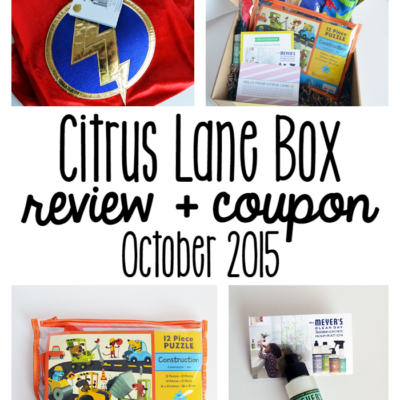 October Citrus Lane Box Review + Coupon