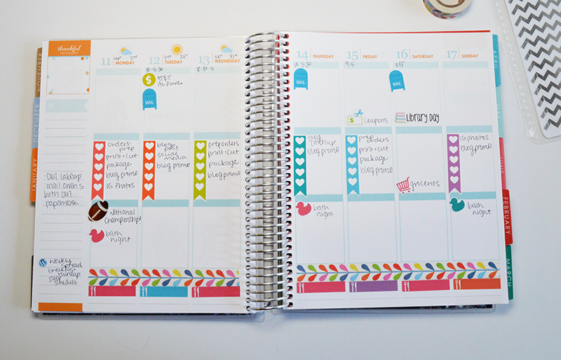 Plan With Me Week of 1/11/15 How I Plan in my Erin Condren