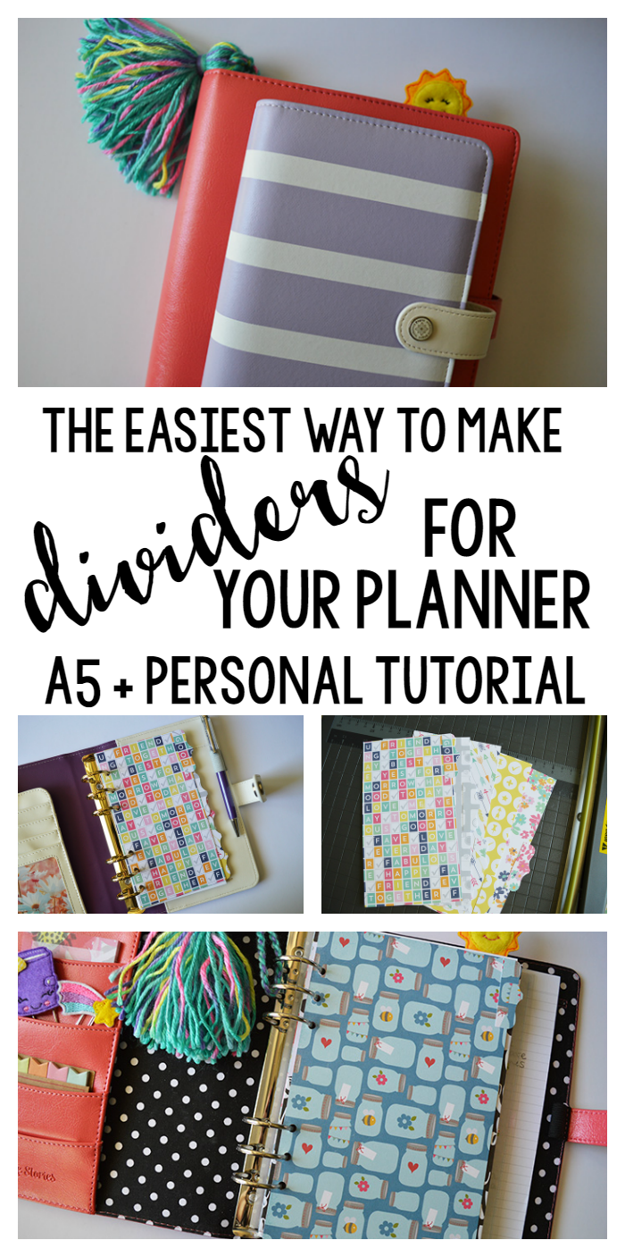The Easiest Way to Make Planner Dividers for A5 or Personal Size