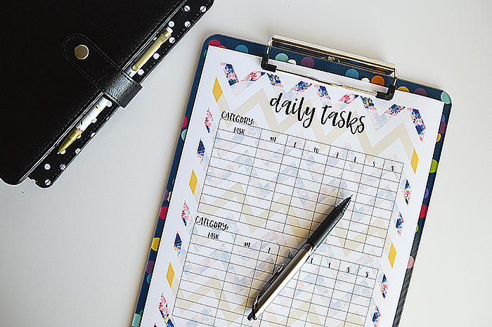 5 Tips for Goal Setting + Free Daily Checklist Printable