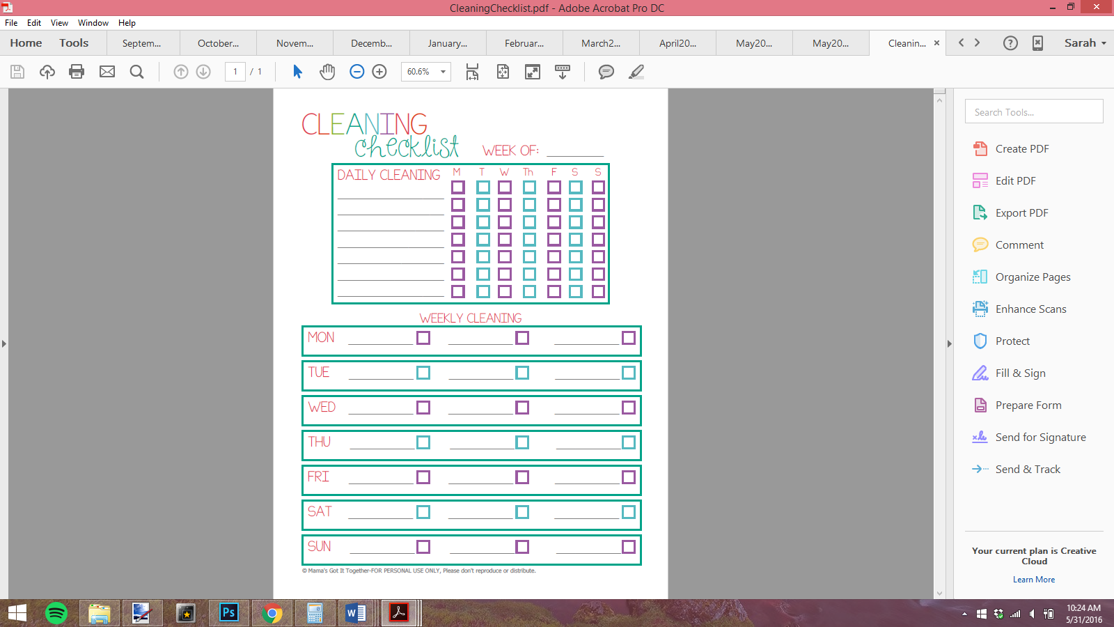 image relating to Happy Planner Printable identify How in direction of Resize Printables for your Delighted Planner! - Coming up with