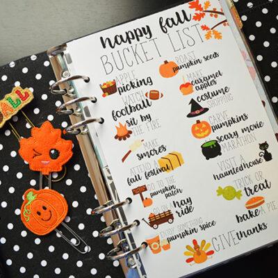Free Fall Bucket List Printable- Many Sizes!