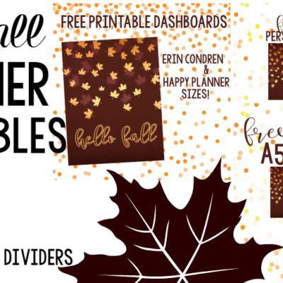 FALL FREEBIES! Free Printable Dividers & Dashboards!