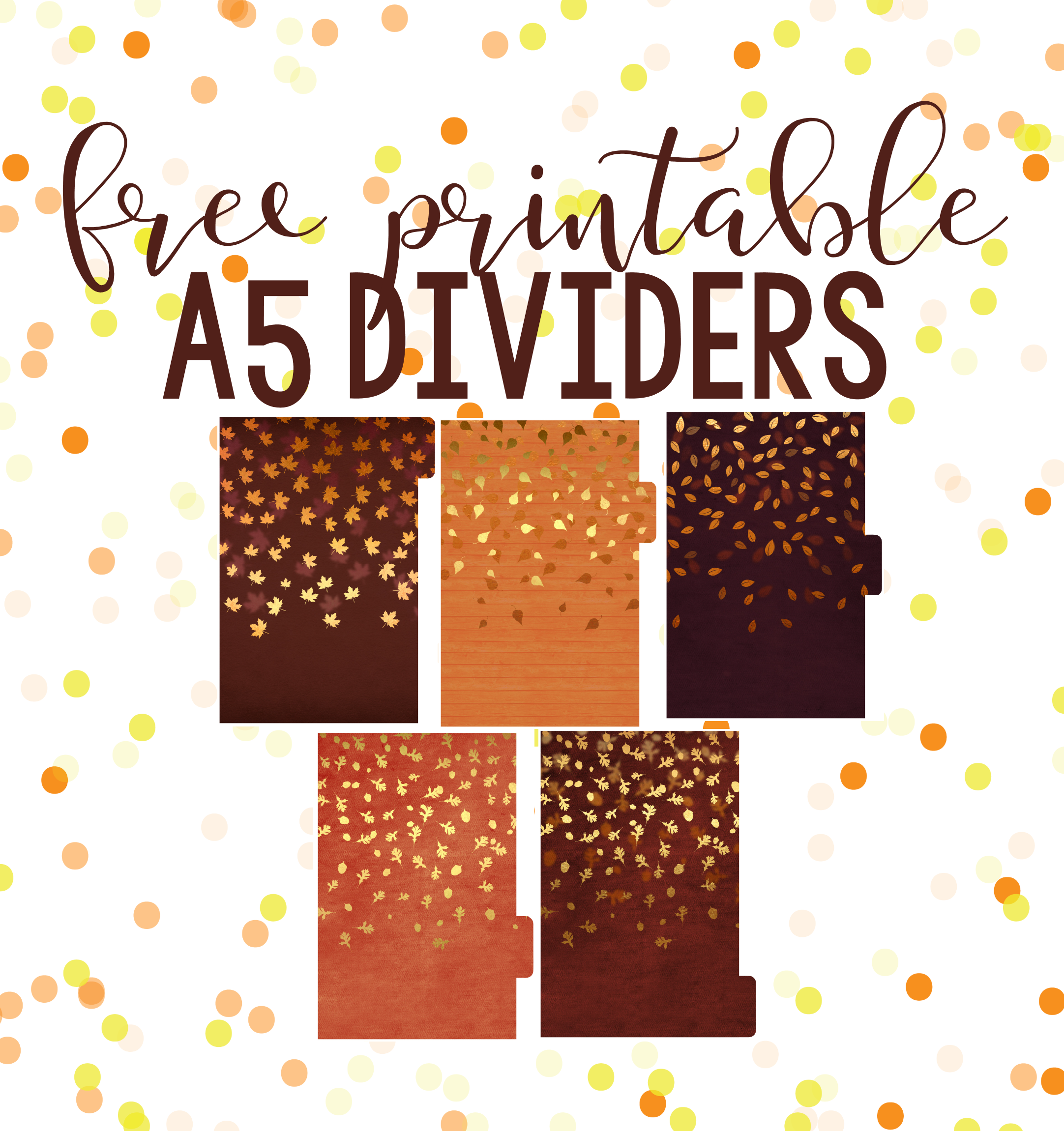 FALL FREEBIES! Free Printable Dividers & Dashboards ...