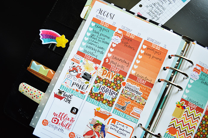 A Peek at My Planner This Week + FREE Printable School Stickers (limited time)