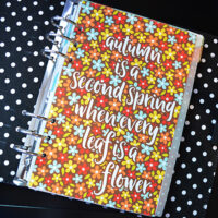 Every Leaf Is a Flower-Free Printable Fall Planner Dividers & Dashboards