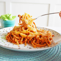 Easy Lightened Up Baked Spaghetti
