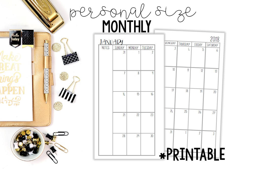 picture about Free Personal Planner Printables titled No cost Printable 2017 Planner Inserts! - Coming up with Motivated