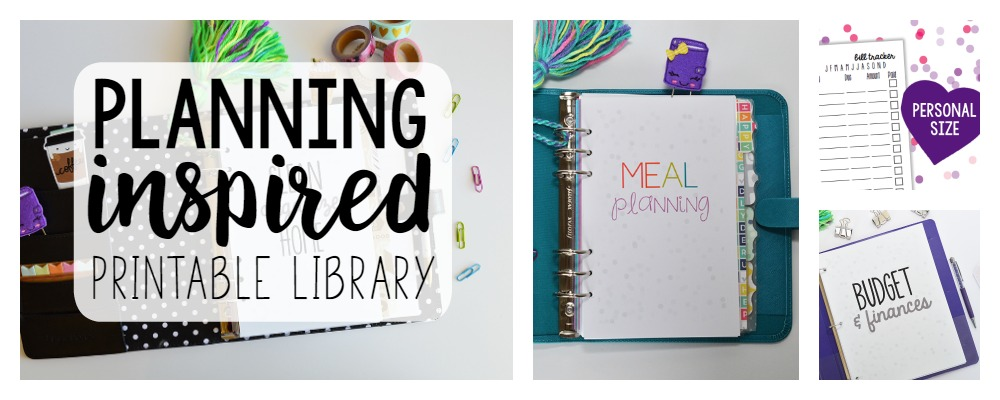 Planning Inspired Printable Library