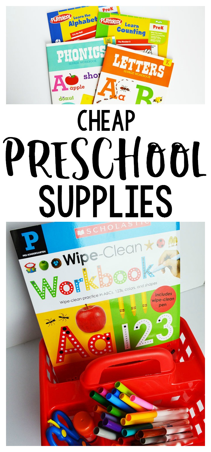 Cheap Preschool Supplies - our favorites from Amazon & The Dollar Tree!
