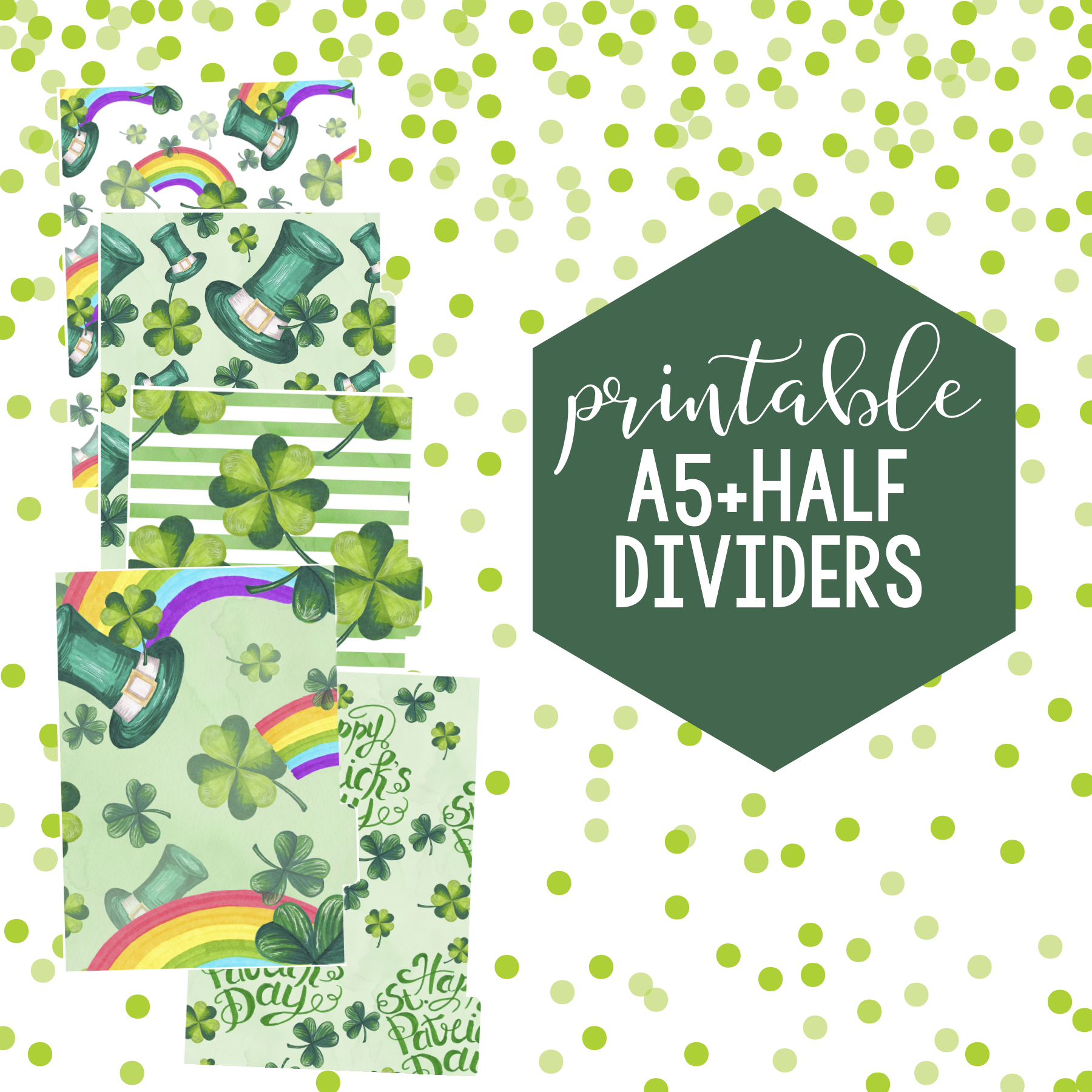 Free St. Patrick's Day Dashboard & Printable Dividers!
