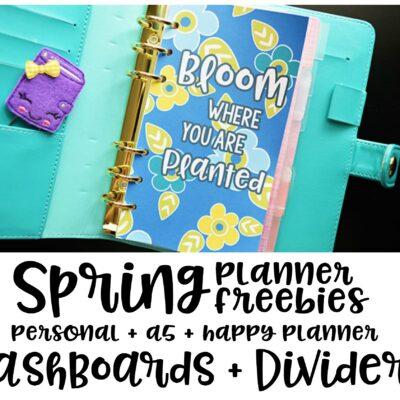 Spring Planner Freebies