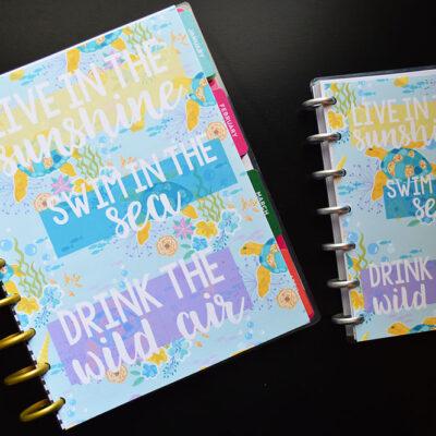 Free Printable Planner Dashboards – Summer Ocean Theme
