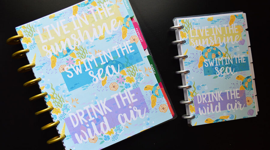 Free Printable Planner Dashboards – Summer Ocean Theme