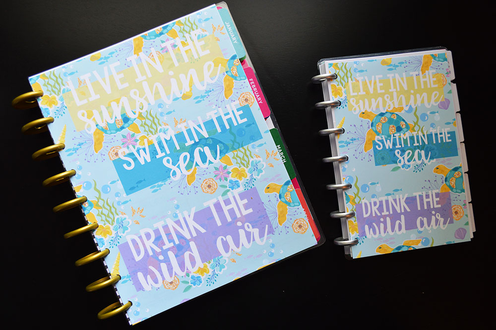 Free Printable Planner Dashboards - Summer Ocean Theme