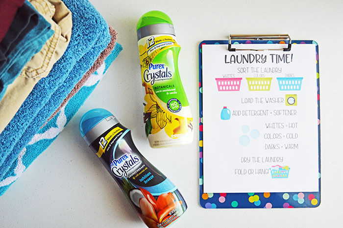Getting Kids to Help with Laundry + Free Printable