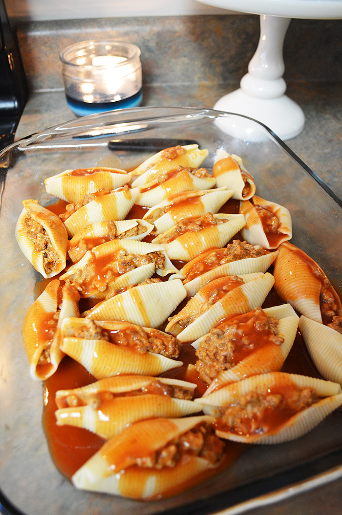 Yummy Mexican Stuffed Shells + My After Dinner Clean Kitchen Routine
