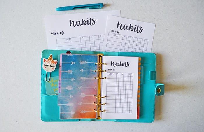 Creating Habits & Making Them Stick + FREE Printables