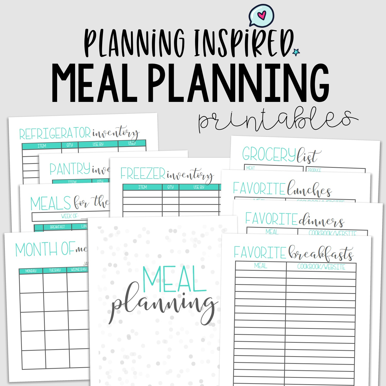 picture about Printable Meal Planner titled Printable Supper Planner - Blue
