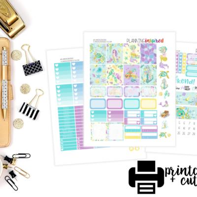 New Free Printable Weekly Sticker Kit- Mermaids!