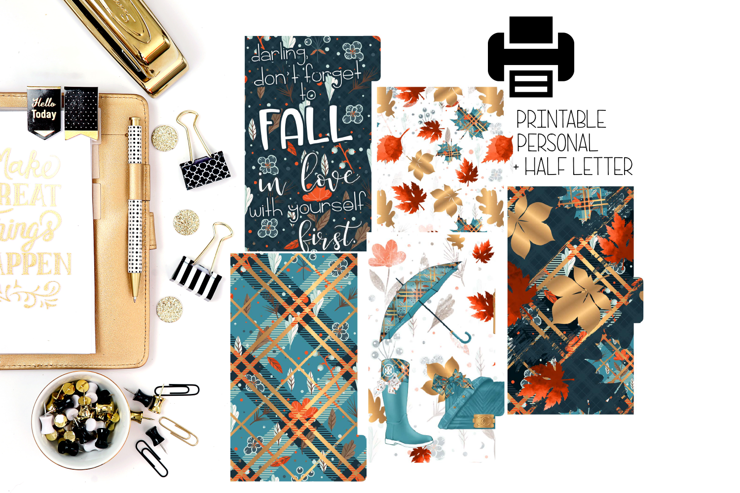 Printable Fall Planner Dividers!