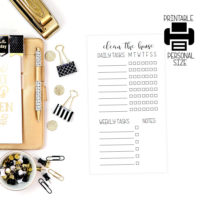 printable cleaning planner insert