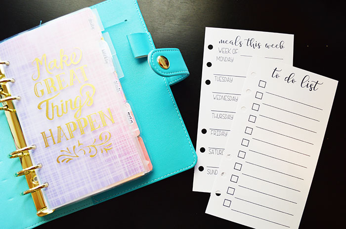 Free Personal Size Printables- To Do List & Meal Planner!