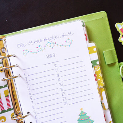 My Christmas Planner Setup + FREE Printable Christmas Dividers!
