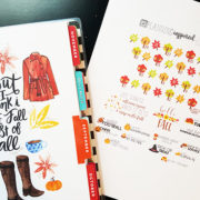 Free Fall Countdown & Fall Bucket List Printable Planner Stickers!