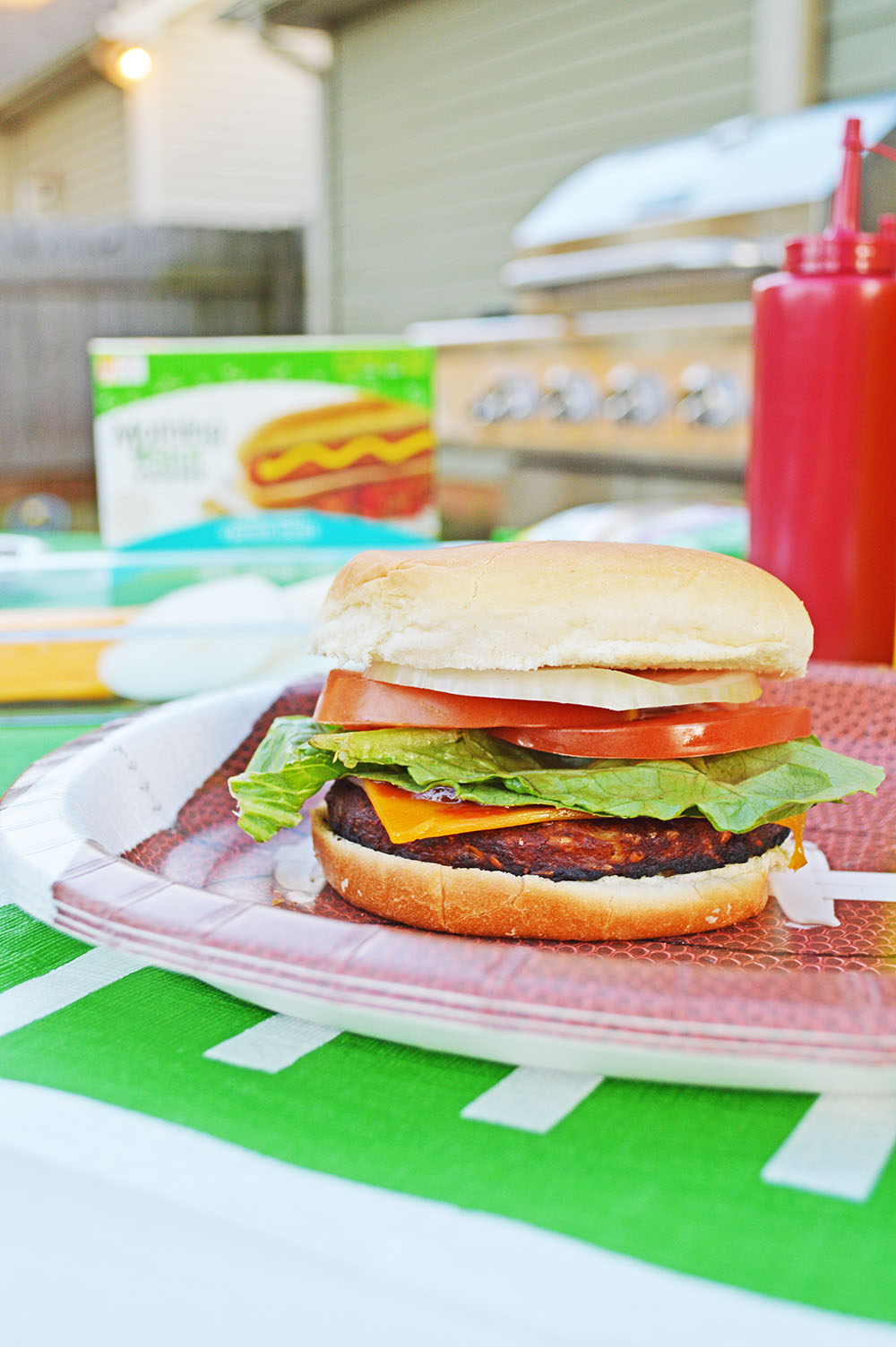 BBQ Veggie Burgers + A Burger Spread for Tailgating at Home