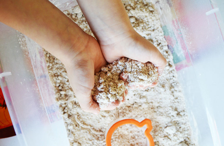 Pumpkin Moon Sand Activity for Kids