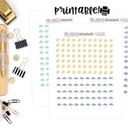 Free Weather Planner Stickers Printables