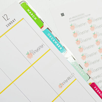 Printable PayDay Planner Stickers