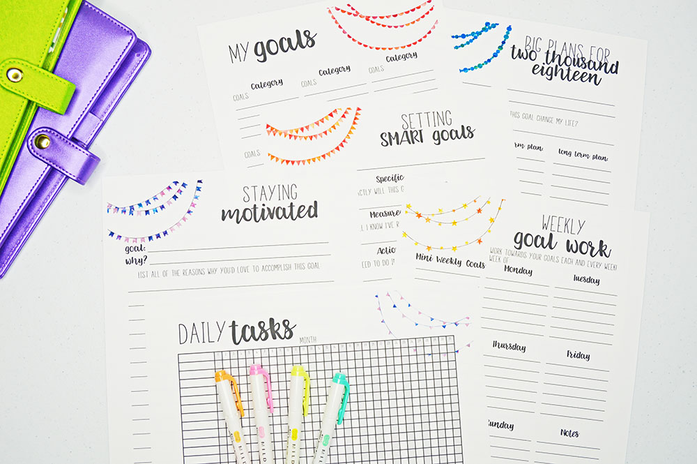 2018 Goal Setting Worksheet + How to Set Your Goals