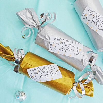 Midnight Kisses DIY New Years Eve Party Favor