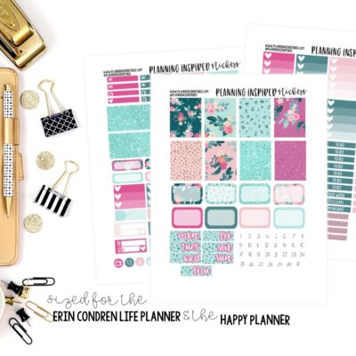 Weekly Planner Stickers   Blossom Free Printable