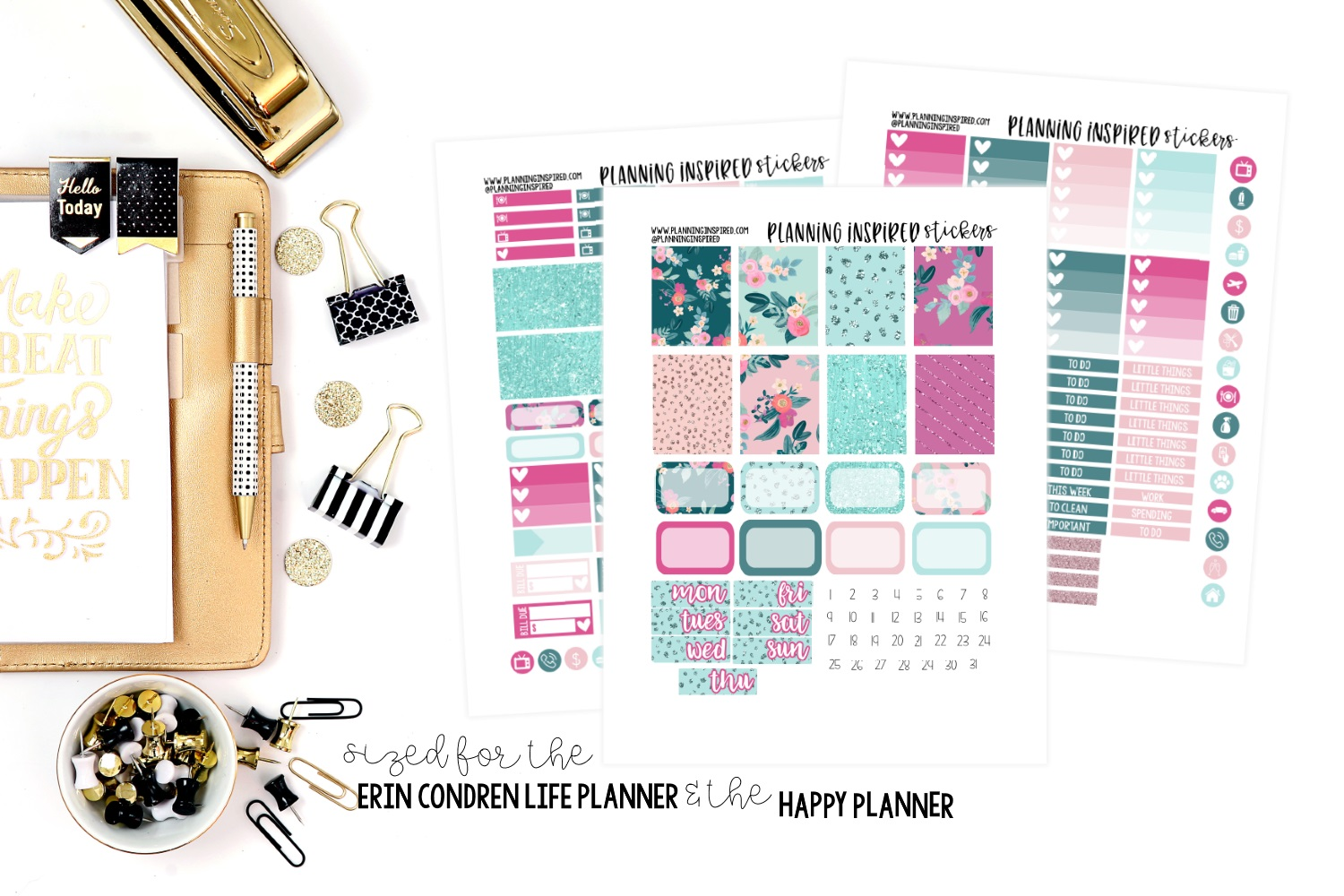 weekly planner stickers blossom free printable planning inspired