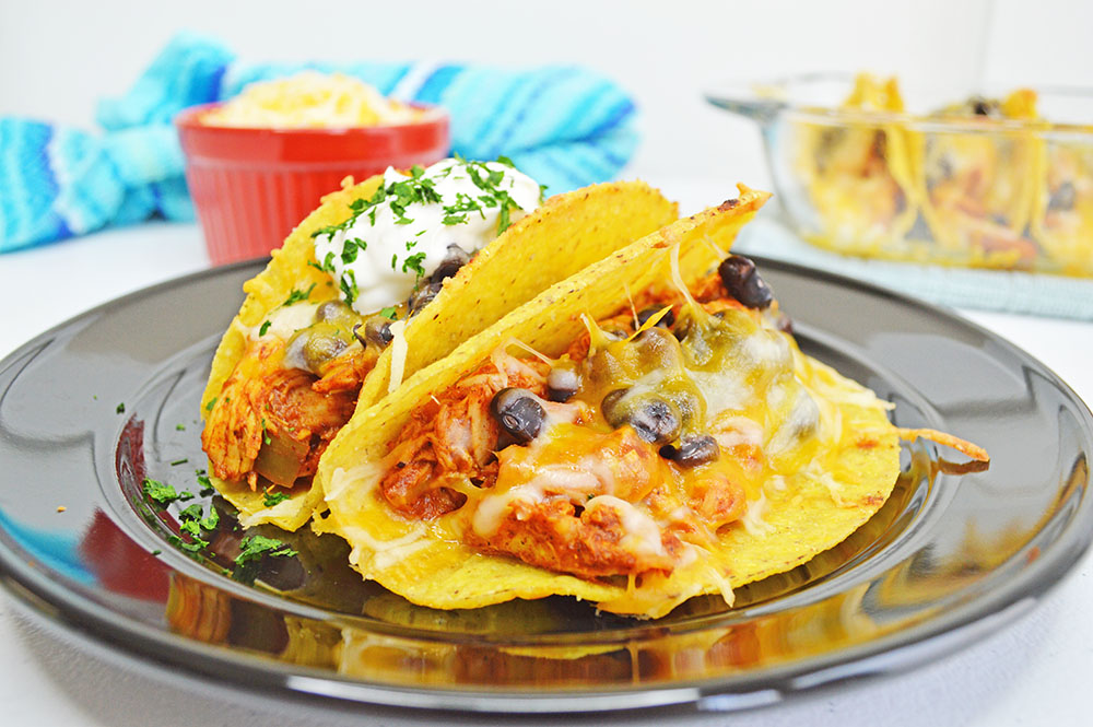 Oven Baked Chicken Tacos
