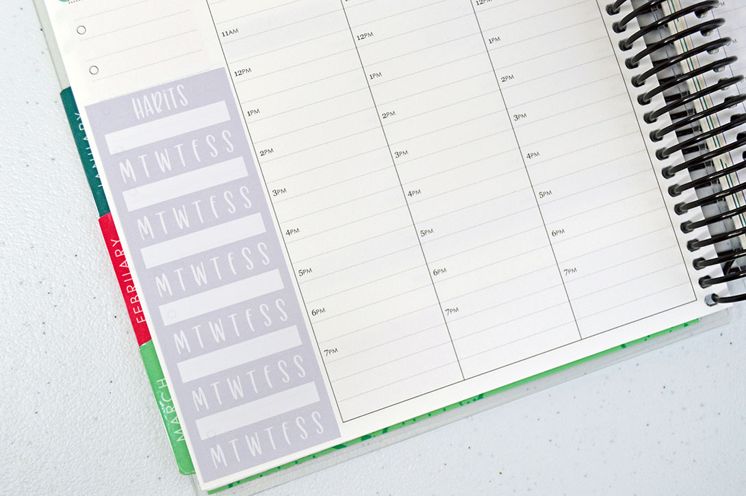 Design With Me Free Printable Habit Tracker Sidebar Stickers Planning Inspired