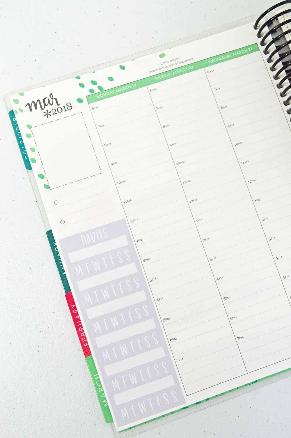 Free Printable Habit Tracker Sidebar Stickers + Design With Me