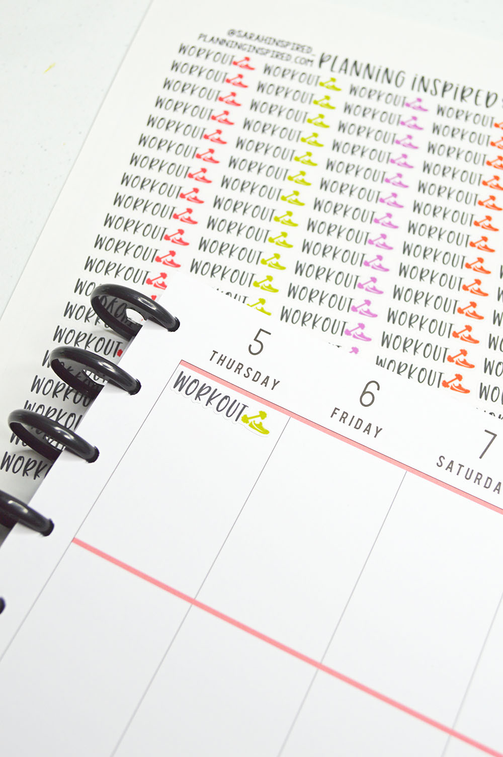 printable workout planner stickers