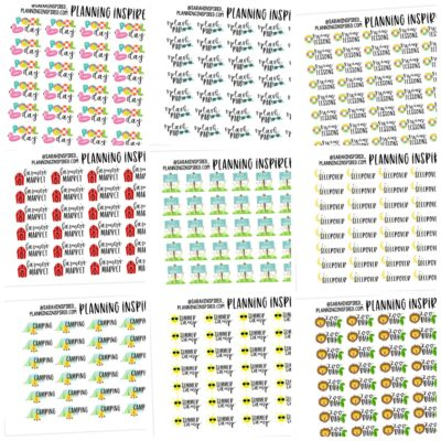 free summer activity printable planner stickers