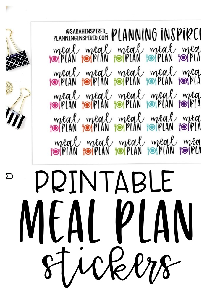 photograph about Free Printable Food Planner Stickers identify Absolutely free Printable Dinner Designing Stickers - Developing Impressed