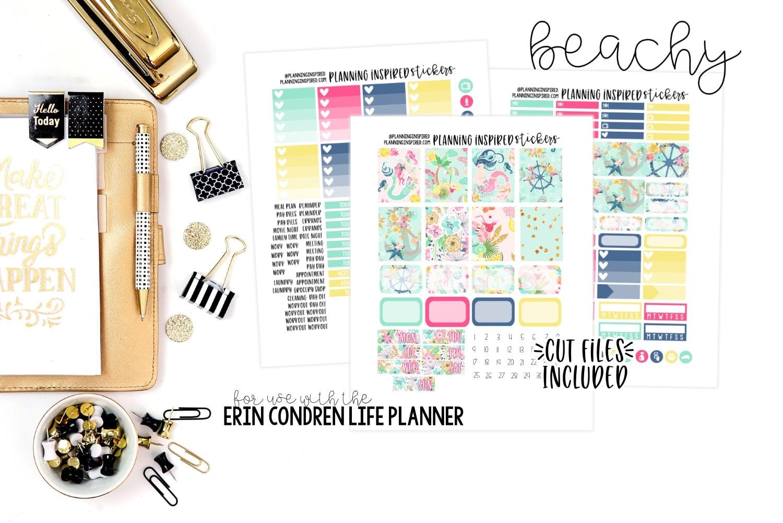 photograph regarding Freebie Planner identify Printable Planner Stickers Freebie - Beachy Weekly Package